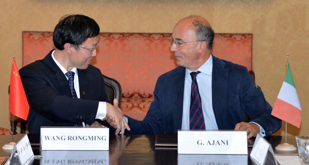 Accordo UniTo-ECNU - Wang Rongming e Gianmaria Ajani