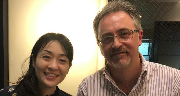 Prof. Gianluca Coci con Murata Sayaka