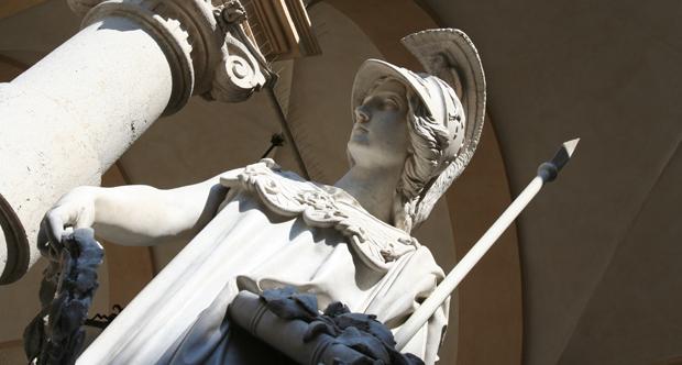 Palazzo del Rettorato - statua Minerva _copertina
