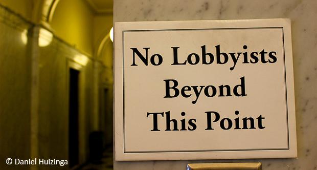 No lobbyists by Daniel Huizinga