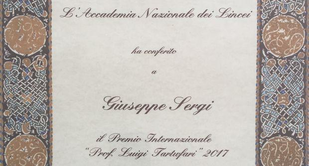 Diploma Sergi Premio Tartufari Accademia dei Lincei